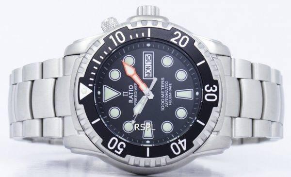 Rapport II gratuit montre Diver Helium-Safe 1000M automatique 1068HA96-34VA-00 homme
