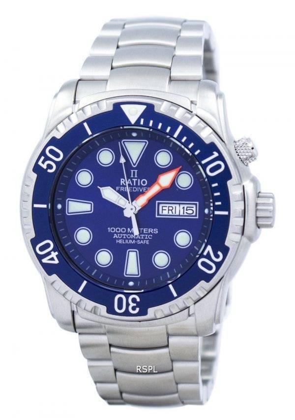 Rapport II gratuit montre Diver Helium-Safe 1000M automatique 1068HA96-34VA-01 homme