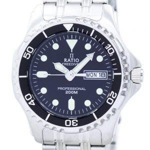 Rapport II gratuit Professional Diver 200M montre Quartz 36JL140 masculin