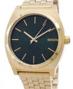 Montre Nixon Time Teller couleur or vert Sunray A045-1919-00 hommes