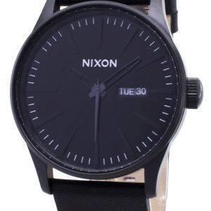 Montre Nixon Quartz Sentry cuir noir A105-001-00 homme