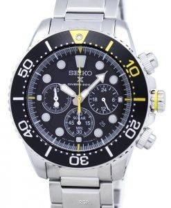 Montre de plongée Seiko Prospex solaire Chronograph 200M SSC613 SSC613P1 SSC613P hommes