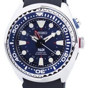Montre «PADI» Edition SUN065P SUN065P1 SUN065P hommes de plongée Seiko Prospex Kinetic GMT