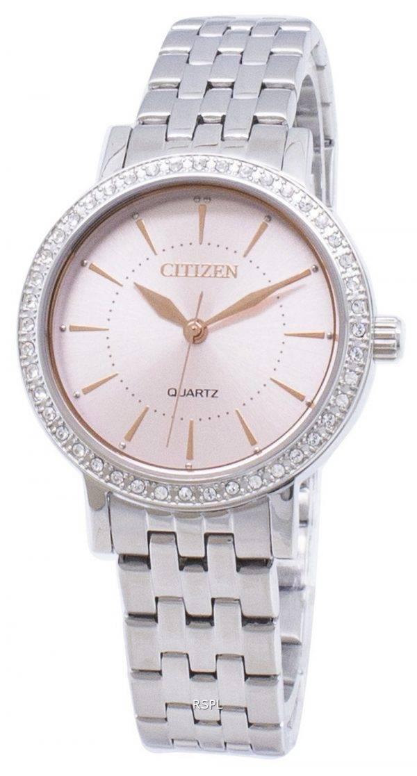 Montre Citizen Quartz EL3041-87 X analogique diamant Accent féminin
