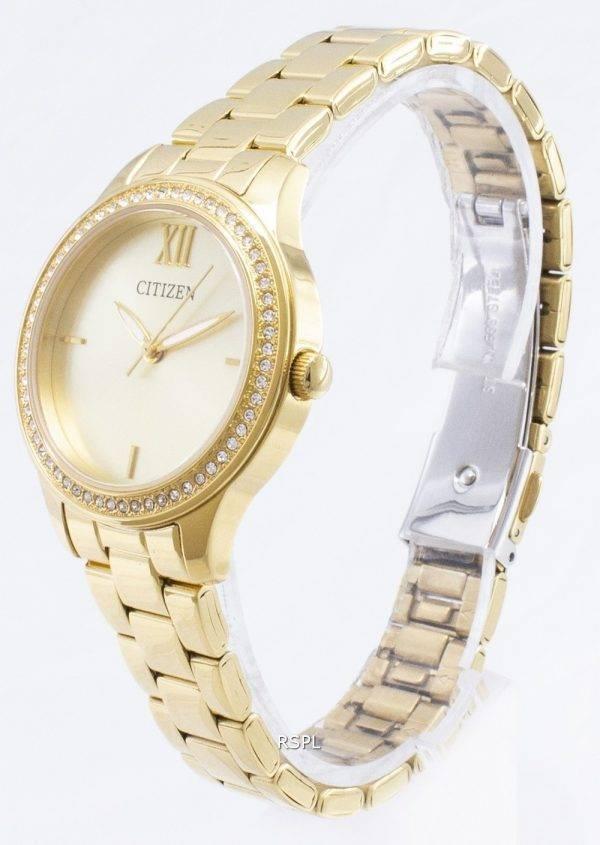 Montre Citizen Quartz EL3082 - 55p Analog diamant Accent féminin