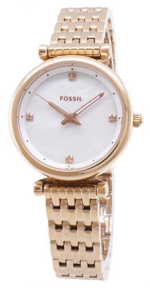 Carlie fossile ES4429 Quartz analogique femme montre