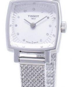 Tissot T-Lady Lovely Square T 058.109.11.036.00 T0581091103600 Diamond accents quartz femmes montre