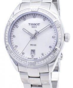Tissot T-Classic PR 100 Lady Sport T 101.910.61.116.00 T1019106111600 Diamond accents quartz montre femme