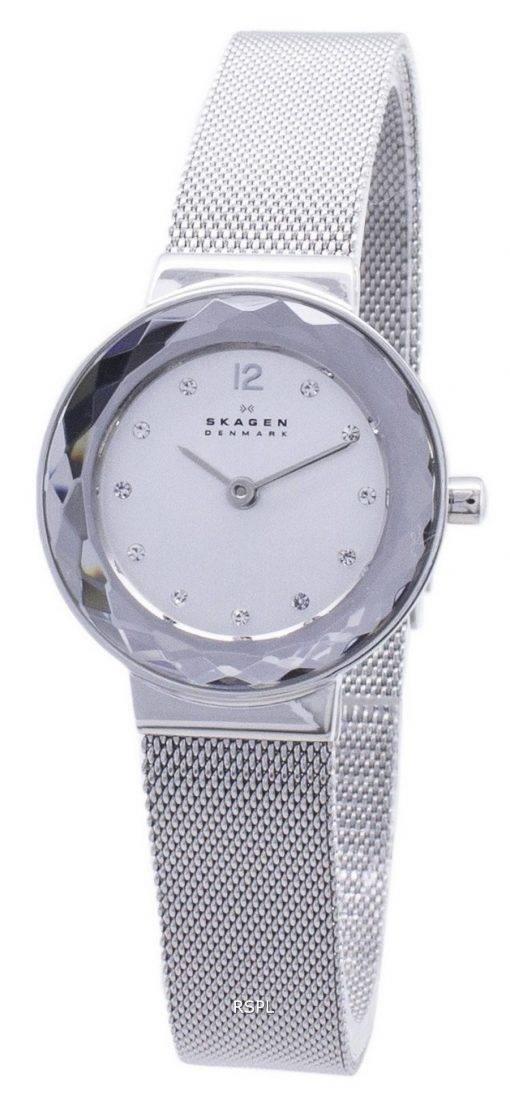 Montre Skagen Quartz Leonora maille d'acier cristaux 456SSS féminin