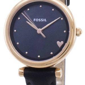 Fossil Carlie mini ES4504 quartz analogique montre femme