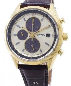 Montre Citizen Eco-Drive CA0452-01P pour homme, chronographe analogique