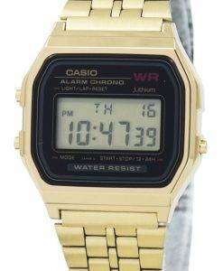 Montre Casio Digital alarme Chrono acier inoxydable A159WGEA-1DF A159WGEA-1 féminin
