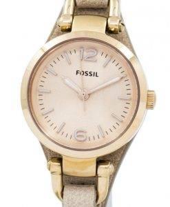 Fossiles Géorgie Mini Rose sable cuir sangle ES3262 Women Watch Dial
