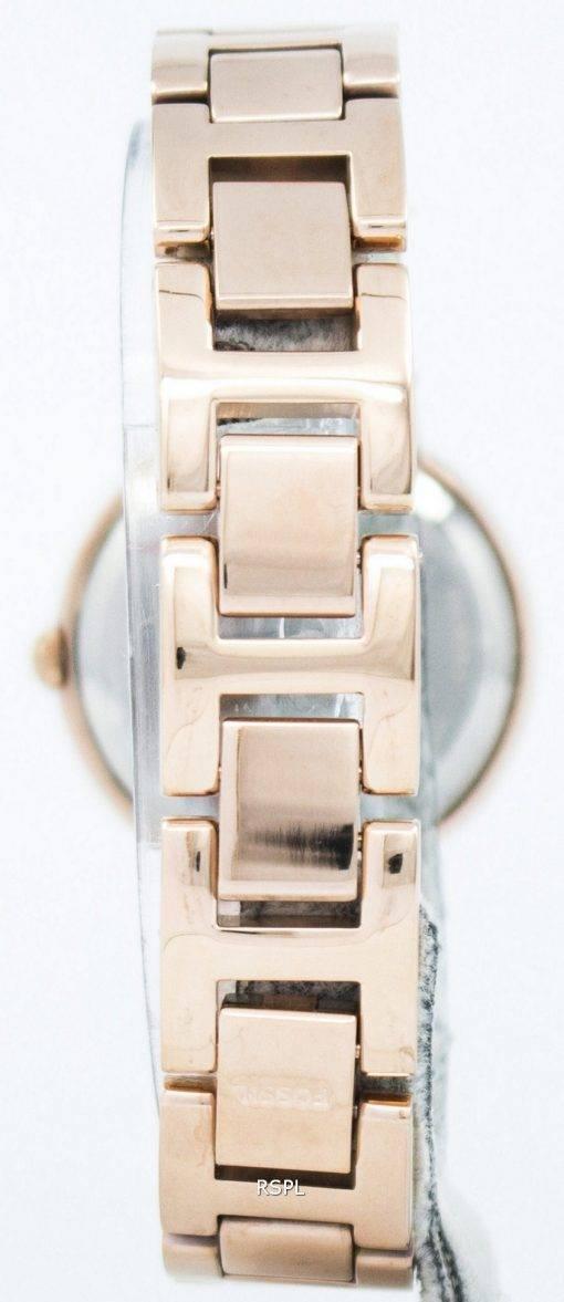 Fossiles Virginie trois aiguilles Crystal Gold Tone montre ES3284 féminin