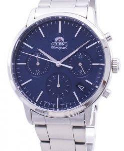Montre pour homme Fabriquée au Japon avec un chronographe contemporain Orient RA-KV0301L00C