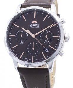 Montre pour homme Fabriquée au Japon avec un chronographe contemporain Orient RA-KV0304Y00C