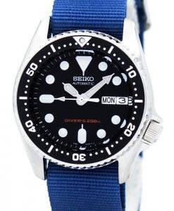 Montre 200M NATO bracelet SKX013K1-NATO6 masculin automatique Seiko Diver