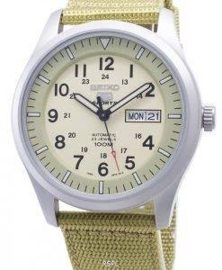 La montre de Seiko 5 Sports Automatique SNZG07K1 SNZG07K SNZG07 militaire sangle en nylon hommes