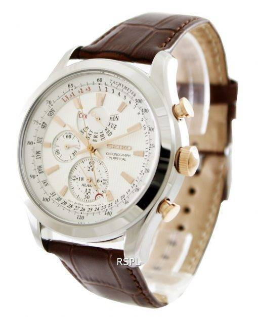 Seiko chronographe perpétuel SPC129P1 SPC129P SPC129