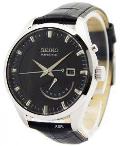 Montre Seiko Kinetic cuir sangle SRN045P2 hommes