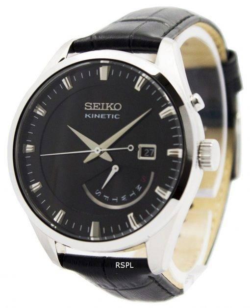 Montre Seiko Kinetic cuir sangle SRN045P2 hommes