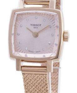 Tissot T-Lady Lovely Square T058.109.33.456.00 T0581093345600 Montre à diamants pour femme