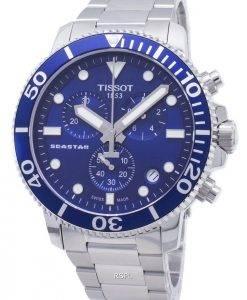 Tissot T-Sport Seastar 1000 Montre T120.417.11.041.00 T1204171104100 pour homme, chronographe 300M