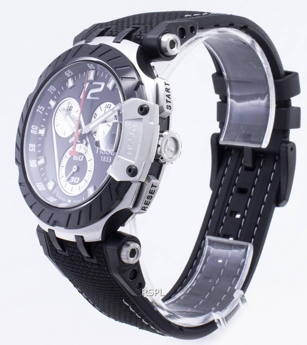Tissot T Race Montre Jorge Lorenzo T115.417.27.057.00 T1154172705700 pour homme, édition limitée, chronographe